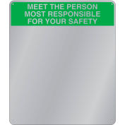 "Se-Kure™ Acrylic Safety Message Mirror, 19"" x 16"", ""Meet The Person"", SM301"
