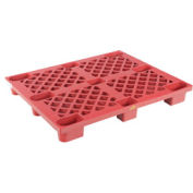 Nestable Plastic Skid 47 x 39-1/4 x 5-1/2, Red