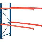 """Steel King® SK2000® Pallet Rack 96""""x42""""x96"""" Add-On Unit - Blue/Orange - 4000 Lbs. Cap."""