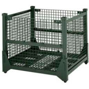Steel King HF4WM454842VG Hold 'N Fold® Collapsible Containers, Wire Mesh, 4000 Lb Cap