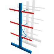 """Global Industrial™ Double Sided Cantilever - 192"""" Upright - 48"""" Brace Kit - Adder"""