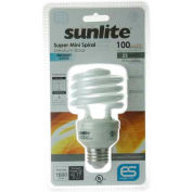 Sunlite® 00826-SU SMS23/65K 23W Super Mini Spiral CFL Light Bulb, Medium Base, Daylight