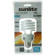 Sunlite® 00826-SU SMS23/65K 23W Super Mini Spiral CFL Light Bulb, Medium Base, Daylight
