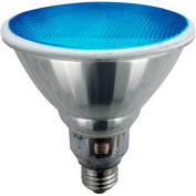 Sunlite® 05362-SU SL23PAR38/B 23W Colored PAR38 Reflector CFL Light Bulb, Medium Base, Blue - Pkg Qty 12