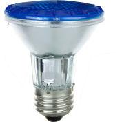 Sunlite 25050-SU 50PAR20/HAL/NFL/B 50W Colored PAR20 Reflector Halogen Bulb, Medium Base, Blue - Pkg Qty 15