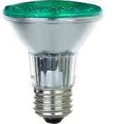 Sunlite 25055-SU 50PAR20/HAL/NFL/G 50W Colored PAR20 Reflector Halogen Bulb, Medium Base, Green - Pkg Qty 15