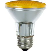 Sunlite 25065-SU 50PAR20/HAL/NFL/Y 50W Colored PAR20 Reflector Halogen Bulb, Medium Base, Yellow - Pkg Qty 15