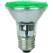 Sunlite 80002-SU PAR20/LED/3W/G 3W PAR20 Colored Reflector, Medium Base Bulb, Green - Pkg Qty 12