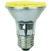 Sunlite 80005-SU PAR20/LED/4W/Y 4W PAR20 Colored Reflector, Medium Base Bulb, Yellow - Pkg Qty 12