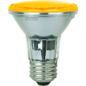 Sunlite 80010-SU PAR20/LED/2W/A 2W PAR20 Colored Reflector, Medium Base Bulb, Amber - Pkg Qty 12