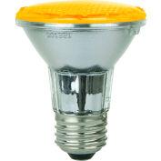 Sunlite 80010-SU PAR20/LED/2W/A 2W PAR20 Colored Reflector, Medium Base Bulb, Amber - Pkg Qty 12