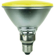Sunlite 80045-SU PAR38/LED/4W/Y 4W PAR38 Colored Reflector, Medium Base Bulb, Yellow - Pkg Qty 6