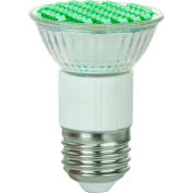 Sunlite 80196-SU JDR/LED/2.8W/G 2.8W MR16 Colored Mini Reflector, Medium Base Bulb, Green - Pkg Qty 12