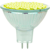 Sunlite 80317-SU MR16/LED/2W/GU5.3/12V/Y 2W MR16 Colored Mini Reflector, GU5.3 Base Bulb, Yellow - Pkg Qty 12