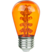 Sunlite 80366-SU S14/LED/1.1W/A 1.7W S14 Colored Sign, Medium Base Bulb, Amber - Pkg Qty 20