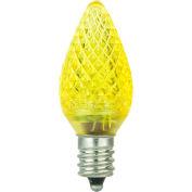 Sunlite 80704-SU C7/LED/0.4W/C/110V/Y/6PK 0.4W C7 Colored Night Light, Candelabra Base Bulb, Yellow - Pkg Qty 20
