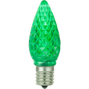 Sunlite 80706-SU C9/LED/0.4W/C/G/6PK 0.4W C9 Colored Night Light, Intermediate Base Bulb, Green - Pkg Qty 20