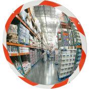 "See All® 160-Degree High-Visibility Edge Convex Mirror - Indoor, 48"" Diameter - PLX48RT"