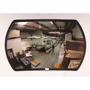 "See All® 160-Degree Round Rectangular Acrylic Convex Mirror - Outdoor, 12"" x 18"" - PLXO1218ABS"