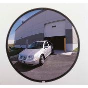 "See All® 160-Degree Outdoor Acrylic Convex Mirror W/Galvanized Steel Back, 18"" Dia. - PLXO18GB"