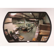 "See All® 160-Degree Round Rectangular Acrylic Convex Mirror - Outdoor, 20"" x 30"" - PLXO2030ABS"