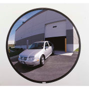 """See All® 160-Degree Outdoor Acrylic Convex Mirror W/Stainless Steel Back, 36"""" Dia. - PLXO36SSB"""