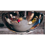 See All® 360-Degree Steel Full Dome Mirror - Indoor, 24 Diameter - PVS24-360