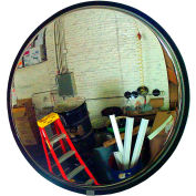 """See All® 160-Degree Stainless Steel Convex Mirror - Indoor, 34"""" Diameter - SS34"""