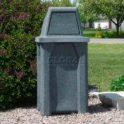 32 Gal. Square Receptacle, Dome Top, Liner - Gray Granite