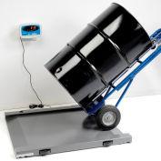 Brecknell DS1000 Series Digital Drum Floor Scale W/LED Indicator, 1,000 lb x 0.5 lb