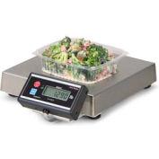 "Brecknell 6115 Touchless Zero Portion Digital Scale W/ Pan Stop 240 oz x 0.1 oz 13-7/16"" x 13-7/16"""