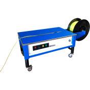 "Sealer Sales SM Series Semi Automatic Low Profile Strapping Machine, 57""L x 27""H, White & Blue"