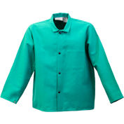 "Stanco Flame Resistant 30"" Green Cotton Coat, FR630-2XL"