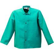 "Stanco Flame Resistant 30"" Green Cotton Coat, FR630-2XL"
