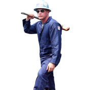 Stanco Full Featured Coverall, 7.5 oz. 100% FR Cotton, Navy Blue, FRC681NB-XL