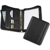"Samsill® Professional 1"" Zipper Binder, 8-1/2"" x 11"", Vinyl Cover, Black"