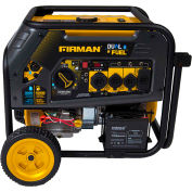 Firman 10,000/8000W Dual Fuel Portable Generator, Gas, Electric & Recoil Start, 120/240V - H08051