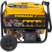 Firman 10,000/8000 Watt Portable Generator, Gas, Recoil, Electric & Remote Start, 120V - P08003