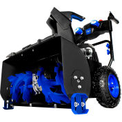 "Snow Joe 24"" Electric 2 Stage Snow Blower ION8024-XR with LED Lights, Cordless, 2 x 5Ah Batteries"