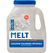 MELT 10 Lb. Calcium Chloride Crystals Ice Melt - 200 Jugs/Pallet MELT10CC-J-PLT
