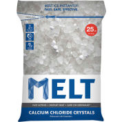 MELT Calcium Chloride Crystals Ice Melter 25 lb Bag - 100 Bags/Pallet - MELT25CC-PLT