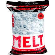 MELT 25 Lb. Bag Calcium Chloride Pellets Ice Melter, Resealable Bag 100/Pallet - MELT25CCP-PLT