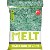 MELT Premium Enviro-Blend Ice Melt w/ CMA 25 lb Bag - 100 Bags/Pallet - MELT25EB-PLT