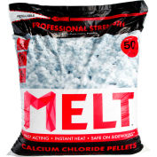 MELT Bag Calcium Chloride Pellets Ice Melter 50 lb Resealable Bag - 49 Bags/Pallet- MELT50CCP-PLT