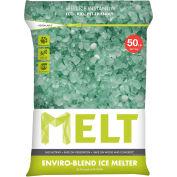 MELT 50 Lb. Bag Premium Enviro-Blend Ice Melt w/ CMA - 49 Bags/Pallet MELT25EB-PLT