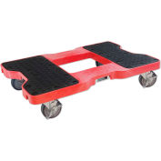 """Snap-Loc® SL1500D4B Dolly Red 1,500 Lb. Cap., Steel Frame, Strap Option, 4"""" Casters"""