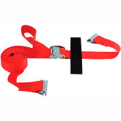 "Snap-Loc® SLTE216CRI E-Strap 2""X16' Cam Red (Import) With Hook & Loop Storage Fastener"