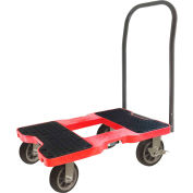 "Snap-Loc™  All-Terrain Push Cart Dolly  SL1500P6R - 6"" Casters - 1500 Lb. Cap. - Red"