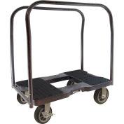 "Snap-Loc™ All-Terrain Panel Cart Dolly SL1500PC6B - 6"" Casters - 1500 Lb. Cap. - Black"