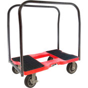 "Snap-Loc™ All-Terrain Panel Cart Dolly SL1500PC6R - 6"" Casters - 1500 Lb. Cap. - Red"